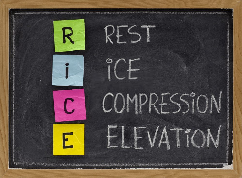 shin splints rice (rest, ice, compression, elevation)